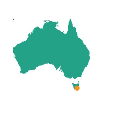 Hobart - Map