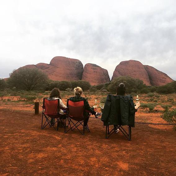 Daniela in Uluru